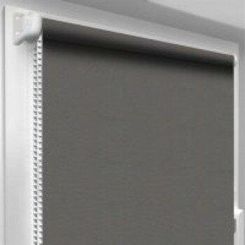 Рулонная штора однотонная  код 0016 ( цвет серый) светонепропускаемый