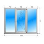 Окно 2100х1400 (6 кам)